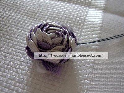 роза из тесьмы зиг-заг своими руками мастер-класс