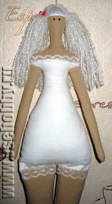 кукла тильда в нижнем белье