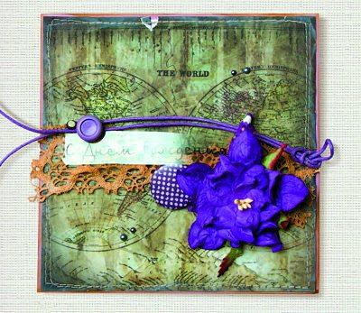 фотография готовой открытки ручной работы