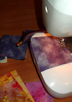 прошиваем детали лоскутного блока летящие гуси единой строчкой на швейной машине