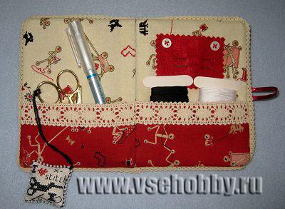 дорожный швейный мини органайзер ручной работы мастер-класс