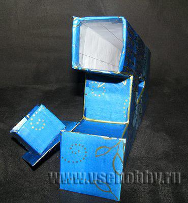 тайничок внутри буквы из картона своими руками