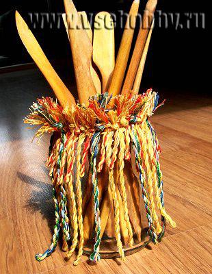 декоративная карандашница из банки своими руками творчество с детьми