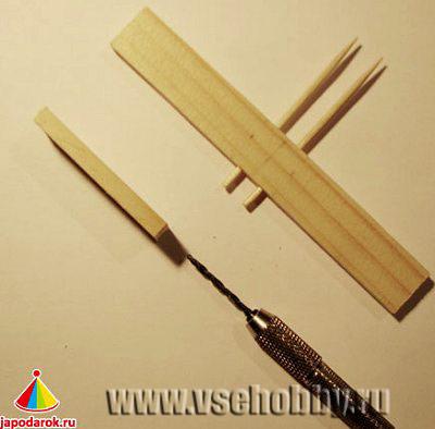 Высверливаем отверстия для сборки крестовины
