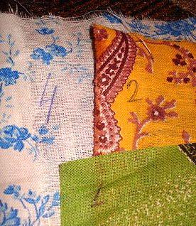 нумеруем ткани для лоскутного одеяла