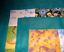 соединительные полосы и кайма лоскутного одеяла ручной работы