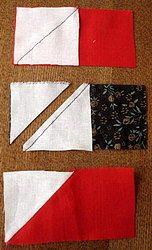 последовательность шитья лоскутного блока летят гуси мастер-
