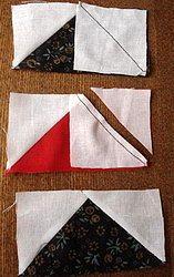 последовательность шитья лоскутного блока летят гуси с другой стороны мастер-