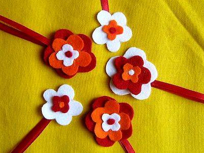 простой цветочек пасхальная подвеска из флиса своими руками для начинающих