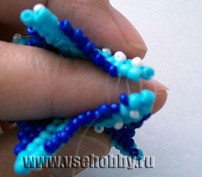 сшиваем половинки морской звезды подвески ручной работы из бисера