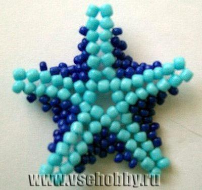 на каждом луче бисерной звезды должно получиться 6 пар бисерин