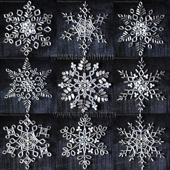 снежинки из бисера бусин стекляруса своими руками мастер-класс