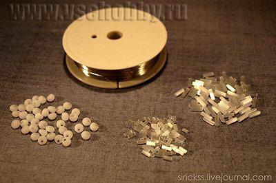 материалы для изготовления бисерных снежинок своими руками
