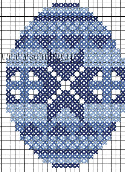 Вышивка крестом схемы пасхальное яйцо