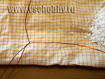 скручиваем проволоку для французского плетения дугами листочков фиалки своими руками