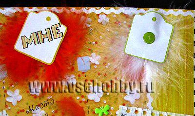 разворот про 12 месяцев фрагмент скрапбукинг фото альбома для новорожденной подарок своими руками