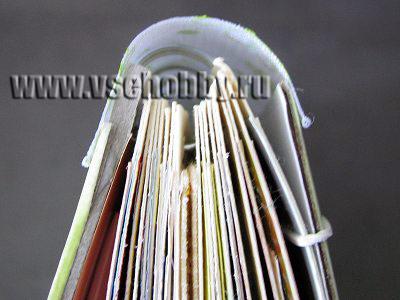 переплет скрапбук альбома в подарок новорожденной вид сверху