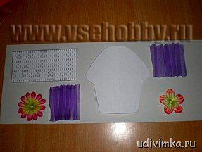 шаблон пирожного и корзиночки из бумаги