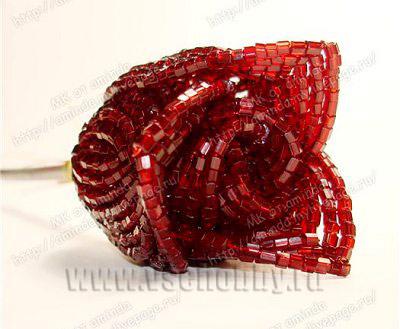 лепестки розы из бисера второго круга ...