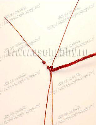 плетем лепестки четвёртого круга бисерной розы своими руками