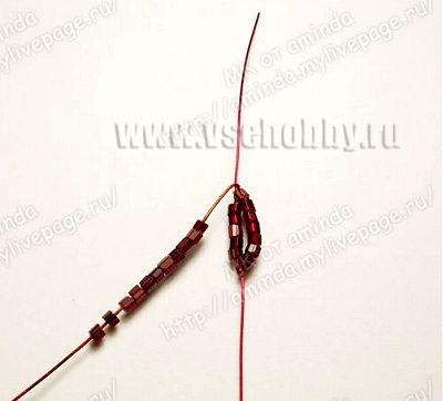 плетем своими руками круглые лепестки бисерной розы из пяти пар дуг в каждом