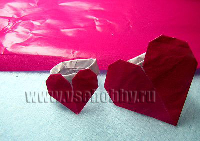 Кольцо с сердечком для любимой в технике оригами мастер-класс