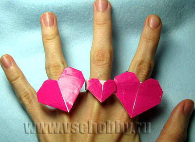 колечко оригами к дню святого валентина всех влюбленных
