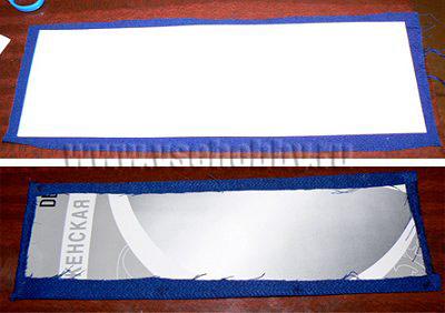 обклеиваем картонные панели для внутренностей комода ручной работы