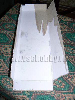 верхняя секция комода ручной работы из крышки основной коробки