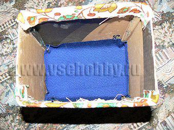 обклеиваем тканью дно ящика комода ручной работы