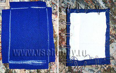 обклеиваем тканью своими руками картонные панели для внутренности ящика комода ручной работы