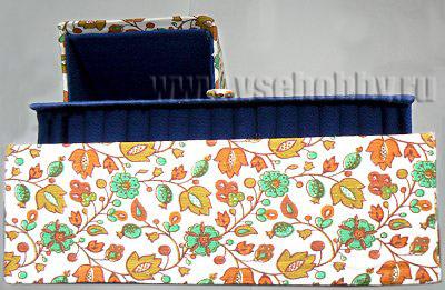 фотография готового комода ручной работы обтянутого тканью