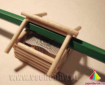 приступаем к укладке крыши китайского домика ручной работы
