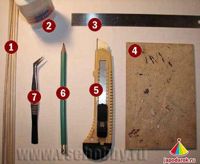 необходимые для работы инструменты и материалы