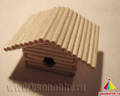крыша китайского домика ручной работы готова