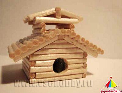 точилка китайский домик ручной работы покрыт бесцветным лаком