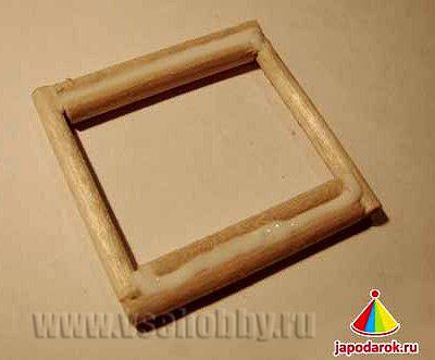 Собираем основу китайского домика из палочек своими руками