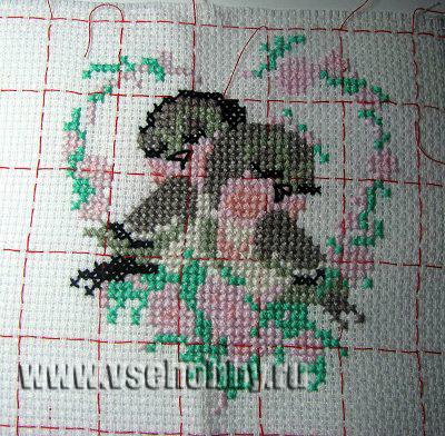 готовая вышивка крестом птички
