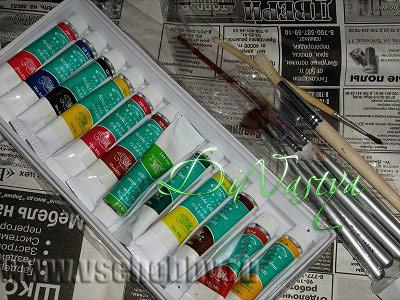 акриловые краски для раскрашивания подставки из гипса для бисерных цветов
