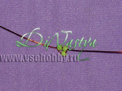 зелёный кончик лепестка параллельное плетение бисером мастер-класс