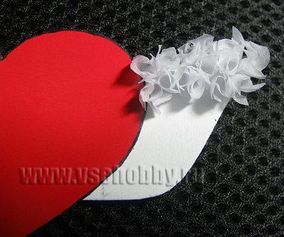 крыло сердечка валентинки в технике торцевания своими руками