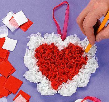 идея сделать сердечко на день святого валентина в технике торцевания