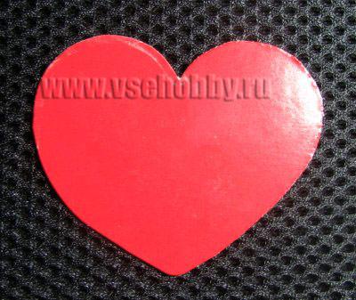 сердечко из плотного картона для изготовления своими руками валентинки в технике торцевания