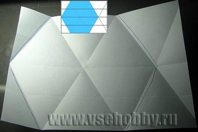 Как сделать снежинку из бумаги из прямоугольника
