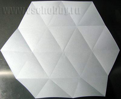 красивый и загадочный шестиугольник из треугольников