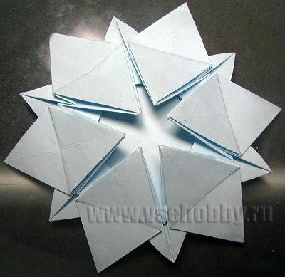 руками снежинку оригами