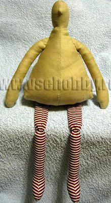 готовое тельце новогодней Тильды ждёт одежды и оформления