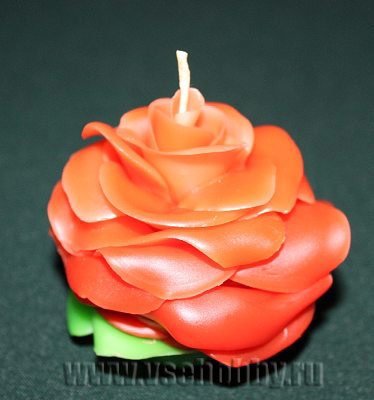 свеча в форме розы ручной работы мастер-класс