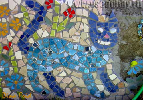 Замытое изображение кота мозаика