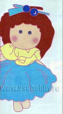 Рисунок куколка из японского журнала